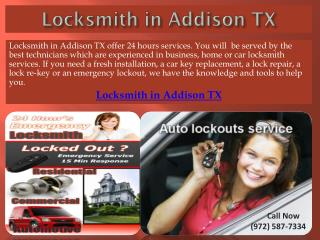Locksmith in Addison TX