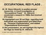 OCCUPATIONAL RED FLAGS 1