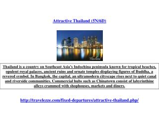 Attractive Thailand (5N/6D)