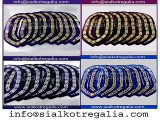 Silver Blue Lodge Masonic chain collar