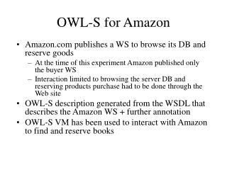 OWL-S for Amazon