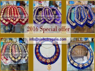 Masonic Silver Blue Lodge chain collar