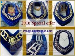 Blue lodge Masonic chain collar Gold