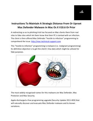 Instructions To Maintain A Strategic Distance From Or Uproot Mac Defender Malware In Mac Os X V10.6 Or Prior