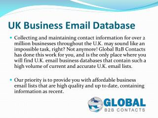 UK Business Email Mailing Lists