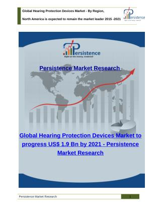 Global Hearing Protection Devices Market - Share, Size, Analysis and Trend to 2021
