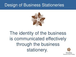 Design of Business Stationeries