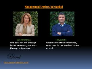 Management Services in istanbul