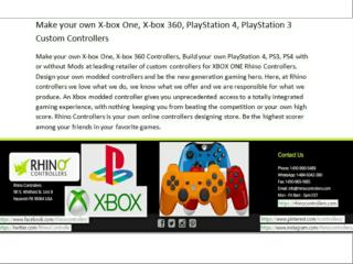 Make your own X-box One, X-box 360, PlayStation 4, PlayStation 3 Custom Controllers