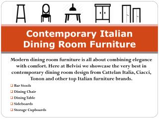 Contemporary Italian Dining Room Furniture