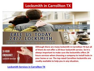 Locksmith services in Carrollton