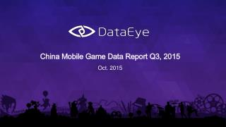 China Mobile Game Data Report in Q3 2015