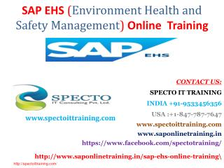 sap ehs online training in usa | sap ehs online training