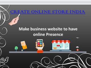 Create Online Store India