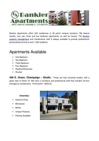 Looking For Rental Apartment in Champaign IL