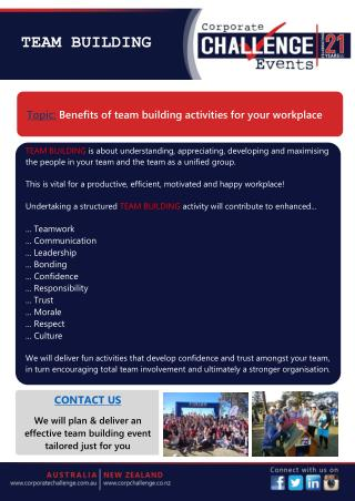 Benefits of Team Building Activities for Your Workplace