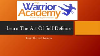 Learn The Art Of Self Defense