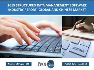 Global Structured Data Management Software Market Trends 2016