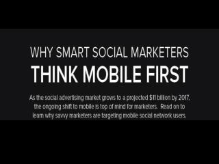 Why Smart Social Marketers Think Mobile First.
