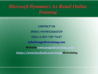 Microsoft Dynamics Ax Retail Online Training in Australia