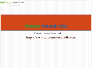 Buy best essential oils at nature natural india