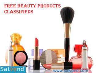 Free Beauty Products Classifieds
