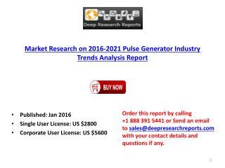 2016-2021 Global Pulse Generator Market Research Analysis Report