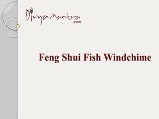 Feng shui fish windchime