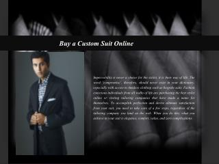 Buy a Custom Suit Online