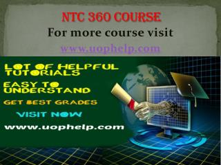 NTC 360 Instant Education/uophelp