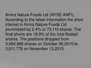 Stock Sentiment And ABR Update Amira Nature Foods Ltd (NYSE:ANFI)