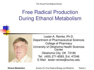 Free Radical Production  During Ethanol Metabolism