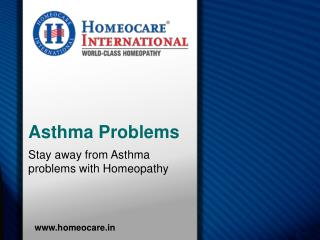 Stay away from Asthma problems with Homeopathy