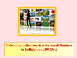 Video Production Services for Small Business in India(ebrand20115vs)