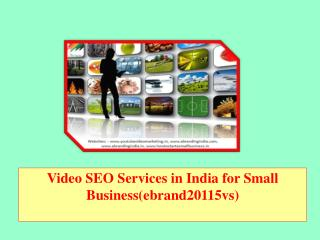 Video SEO Services in India for Small Business(ebrand20115vs)