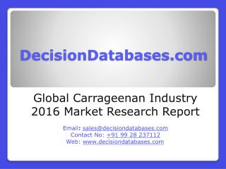 Global Carrageenan Market 2016:Industry Trends and Analysis