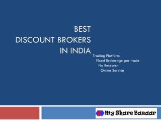 Best Discount Brokers in India