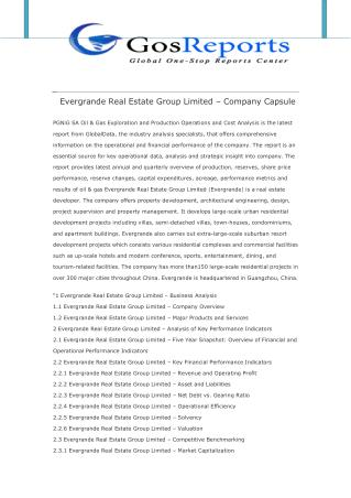 Evergrande Real Estate Group Limited – Company Capsule