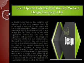 Touch Optimal Potential with the Best Website Design Company in Uk