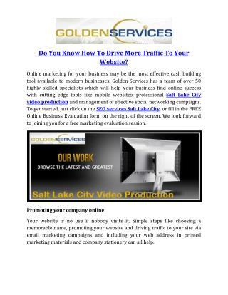 Do You Know How To Drive More Traffic To Your Website?