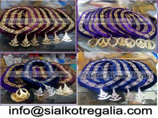 Masonic regalia Blue lodge chain collar