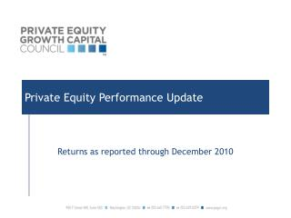 Private Equity Performance Update