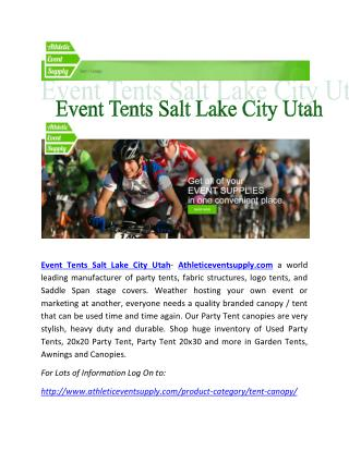 Event Tents Salt Lake City Utah -Athleticeventsupply.com