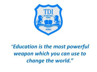 Best school in Haryana- |tdiinternationalschool.com