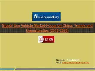 Eco Vehicle Market Industry Global and Chinese Market Research Report 2016-2020