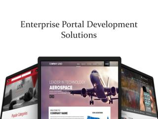 Enterprise Portal Development Solutions