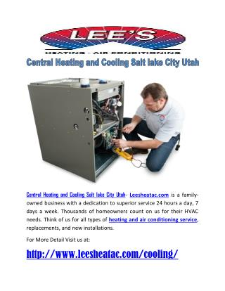 Central Heating and Cooling Salt lake City Utah