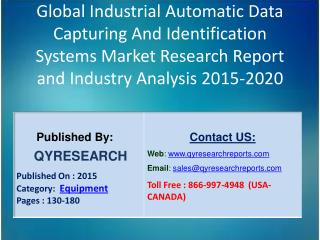 Global Industrial Automatic Data Capturing And Identification Systems Industry 2015 Market Research Report