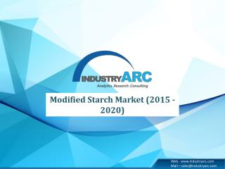 Food & Beverage industry accounts for a major share in modified starch market