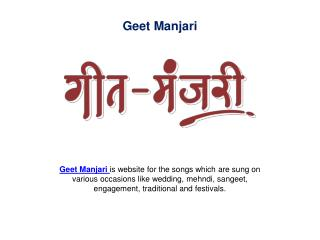 Marriage Ceremony Songs